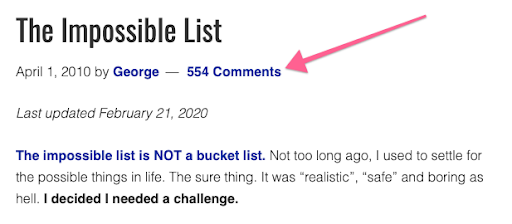 The impossible list
