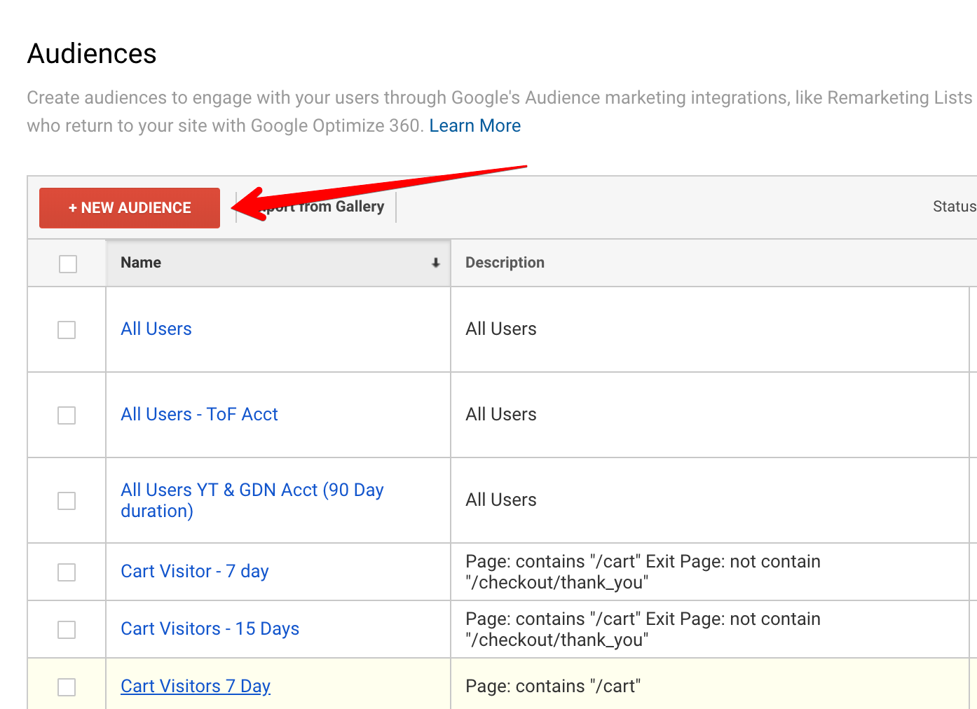 Screenshot showing youtube dashboard page