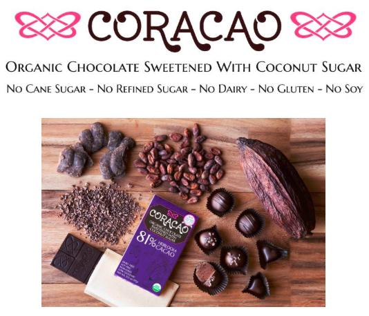 Promotional image showing chocolates
