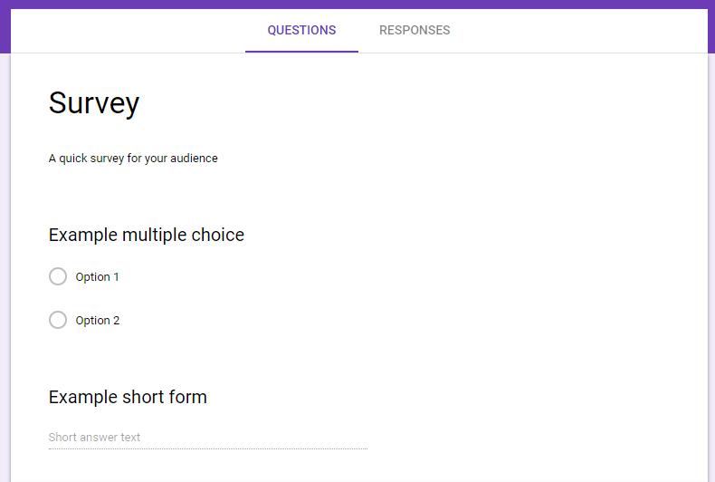 Screenshot of Google Form