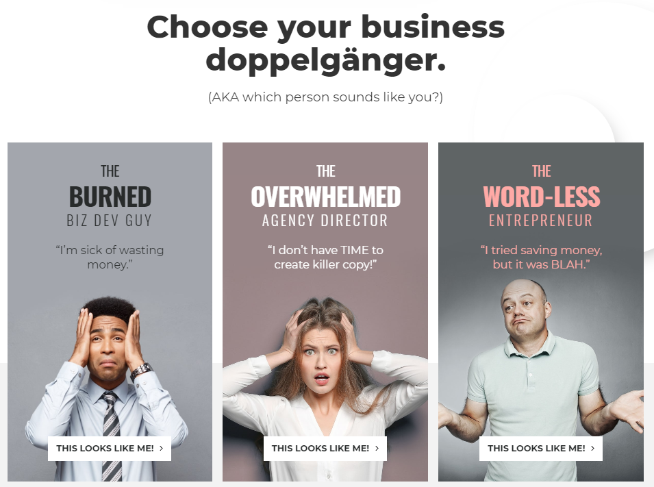 Copywriting Examples - Michal Eisikowitz