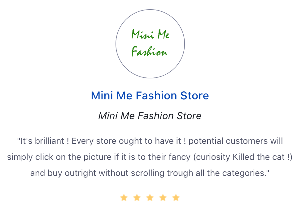 Screenshot showing a review by a store